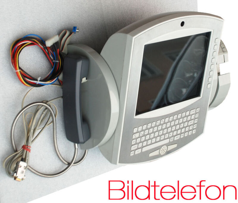 Public Isdn Videophone With Tft Mini-pc With Conference System Rarity Rs-232