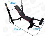 BRAND NEW ...BodyRip Heavy Duty Deluxe Weight Bench With Weight Rack.... RRP £139