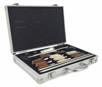 78pc GUN CLEANING KIT Universal PISTOL RIFLE SHOTGUN Deluxe Aluminum Case