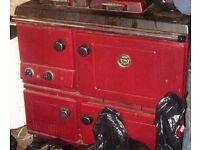 £150 - Working Red oil fired Stanley Range (Like Rayburn) - serviced in March 2016