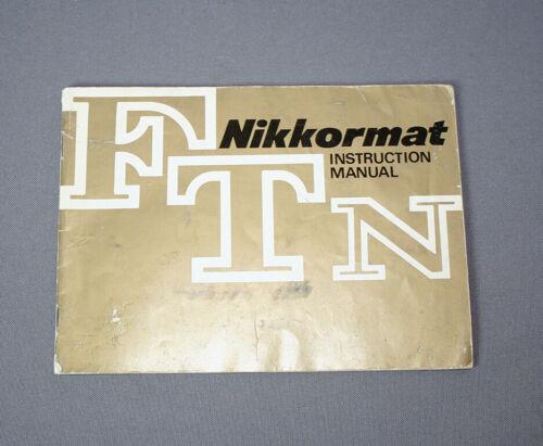 Nikon FTN Camera Instruction Manual