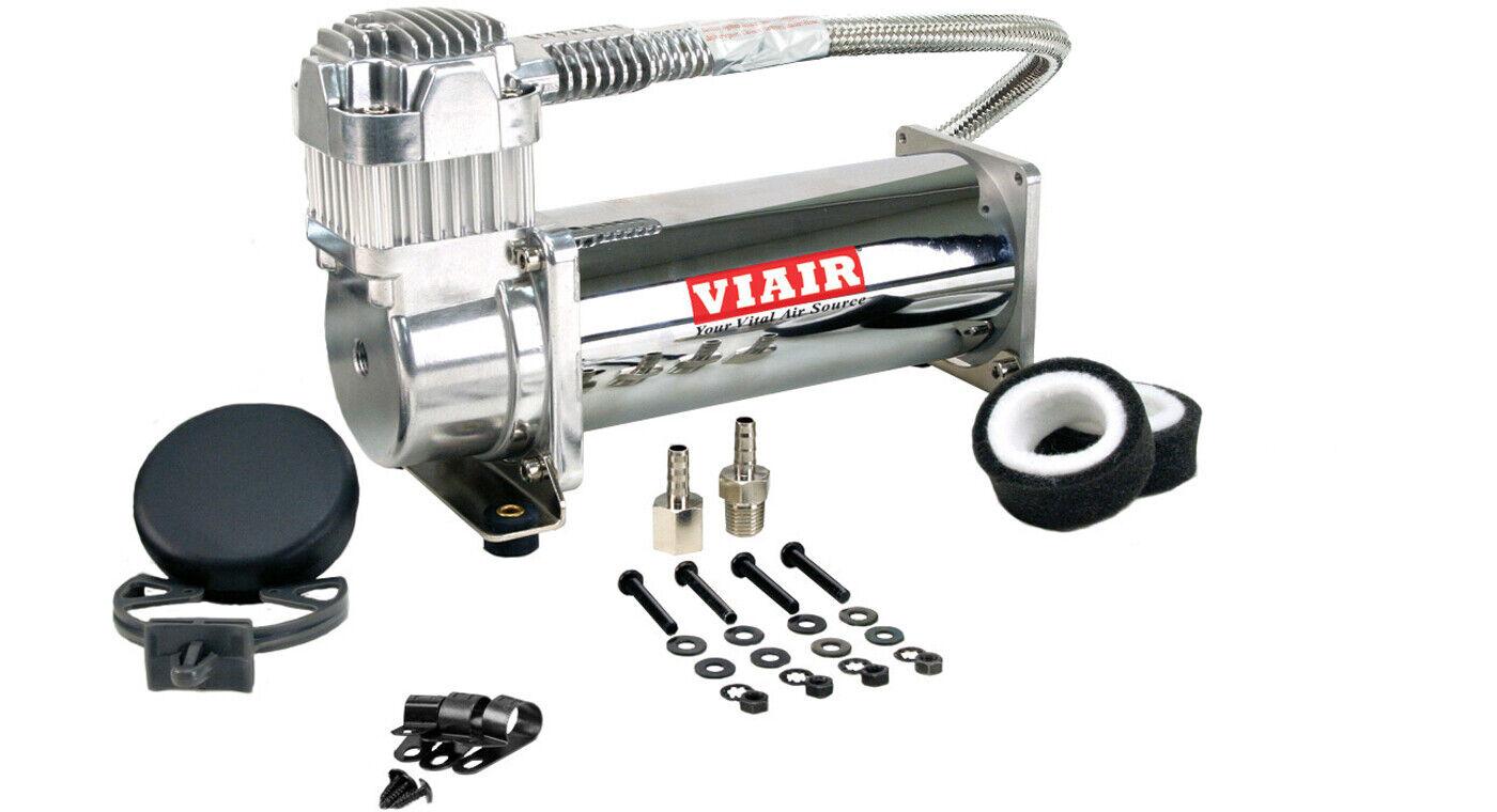 VIAIR 444C Chrome Constant Duty Truck Mount Air Compressor - 12 Volt, 200 PSI