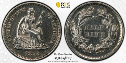 1872 Proof Seated Liberty Silver Half Dime PCGS PR 62
