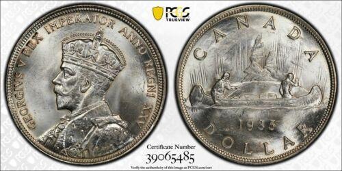 1935 Canada $1 Dollar PCGS MS64+ Lot#G978 Silver! Choice UNC!
