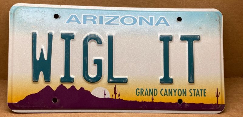 "RARE (  ""WIGL IT"" ) ARIZONA LICENSE PLATE"