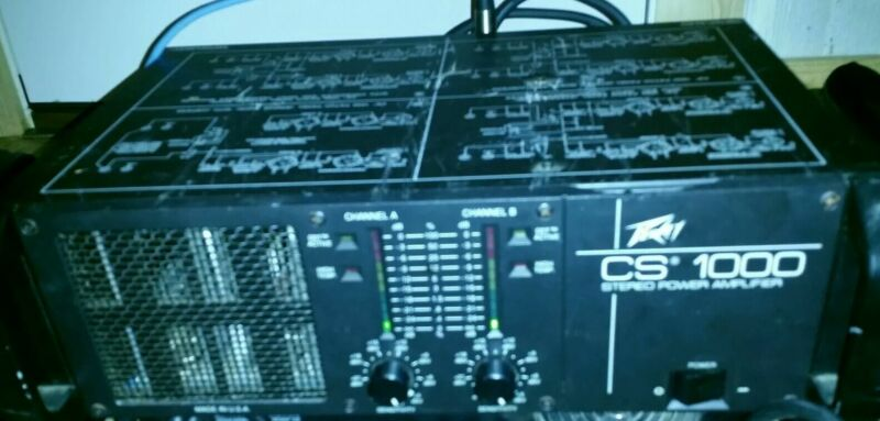 Peavey CS 1000 Stereo power amp working condition #5
