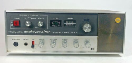 Realistic TRC-49 Navaho Pro Niner Base/Mobile 23 channelCB Radio Not Tested
