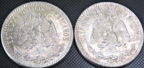 2x **UNC** 1942 - 20 Centavos Cap & Rays KM#438 - 2 Silver Coins