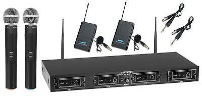 DJ PA UHF Funk Mikrofon Set Wireless Microphone Taschensender Lavalier kabellos (Dj Wireless Microphone)