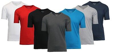 Mens Solid Color T-Shirts Lounge V-Neck Undershirt Tee Performance Underwear NWT (Mens Performance V-neck Color)
