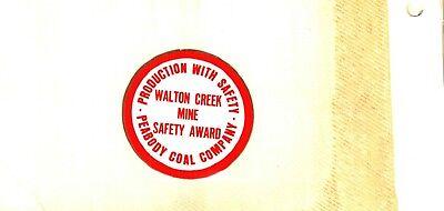 NICE OLDER LATE 70'S PEABODY  COAL CO COAL MINING STICKER # 788