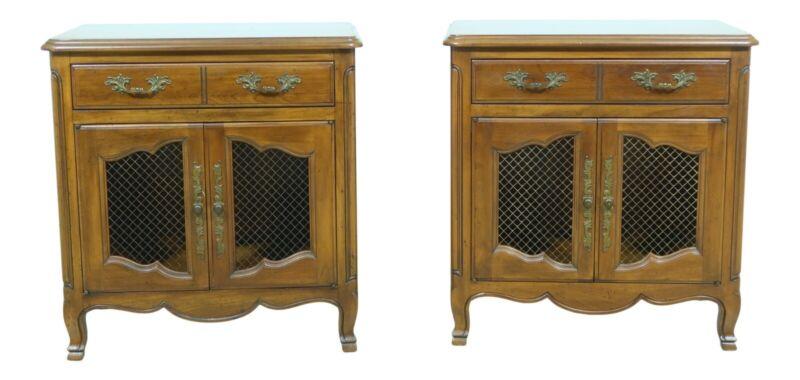 F51441EC: Pair JOHN WIDDICOMB Cherry French Style Nightstands