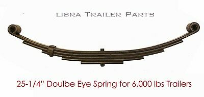 New trailer leaf spring 5 leaf double eye 3000lbs for 5200-6000 lbs axle - - Double Eye Leaf Spring