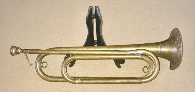 VINTAGE OLD M1892 FIELD TRUMPET REXCRAFT S REGULATION BUGLE