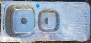 Brand New 1 1/2 Bowl Polished S/S kitchen Sink RHS Drainer