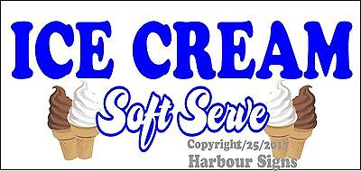 Choose Your Size Ice Cream Soft Serve Decal Food Truck Restaurant Concession