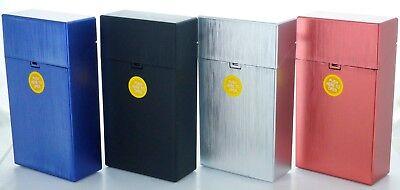 (3 Pack Size Push-to-Open Plastic Cigarette Case Metal Color  LPOMT)