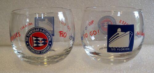 2 RARE P&O – S/S FLORIDA GLASSES