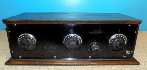 Western Coil & Elect. Co. Radiodyne Jr WC14 5 Tube Radio Receiver Free Shipping
