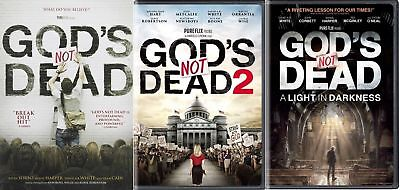 3 DVD'S Pack God Is Not Dead,God Is Not Dead 2, Light in the Darkness , NEW Dvd 3 Pack Light