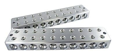 Pair ILL Customz 10 IN 10 OUT 1/0 AWG 0 Gauge Power & Ground Distribution Blocks
