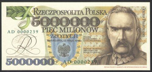 Poland 5000000 zlotych 1995  UNC AD0000239