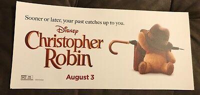 Disney's Christopher Robin movie mylar 6x13 NEW