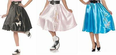 Satin Poodle Skirt 50's Retro Halloween Costume Accessory Adult Women - 50's Poodle Skirt Halloween Costume