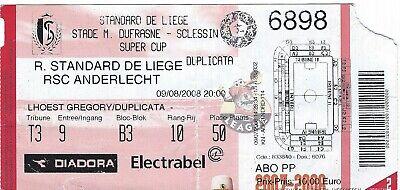 Ticket: Standard - Anderlecht Super Coupe Cup (9-8-08)
