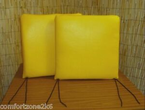 X2 FAUX LEATHER DINING CHAIR PADS SEAT CUSHIONS WIPE CLEAN Bistr Cafe Bar