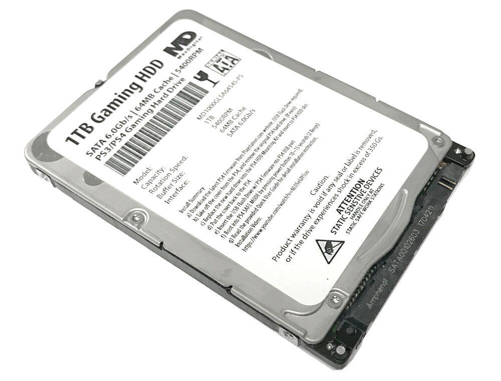 """New MaxDigital 1TB 5400RPM SATA 6Gb/s PS4 2.5"""" Hard Drive"""