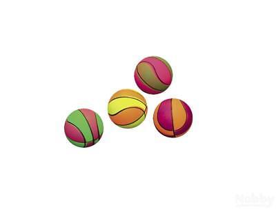 Nobby Moosgummi Basketbälle 6,3cm 4er Netz