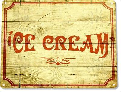 Ice Cream Shop Parlor Rustic Metal Decor Sign