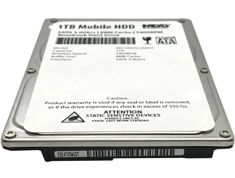 MDD 1TB 5400RPM 8MB Cache 9.5mm 2.5 2