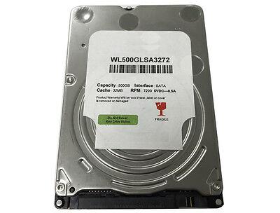 """New 500GB 7200RPM 32MB Cache SATA III (6.0Gb/s) Slim 7mm 2.5"""" Laptop Hard Drive"""