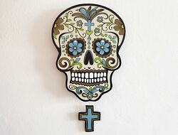 Big Beige Sugar Skull - Day of the Dead -Dia de Los Muertos - Calavera - Pendulu