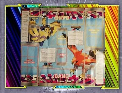 Tapis de Jeu - Playmat - Pokemon : Flambusard Et Mygavolt - XY04
