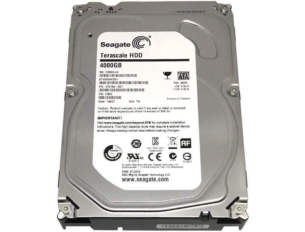 "Seagate ST4000NC001 4TB SATA 6Gb/s 64MB Cache 3.5"" Internal"