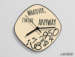 Whatever I'm Late Anyway / Oval Beige - Wall Clock