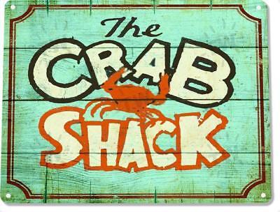 The Crab Shack Restaurant Beach Rustic Metal Decor Sign