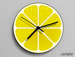 Lemon Fruit Wall Clock
