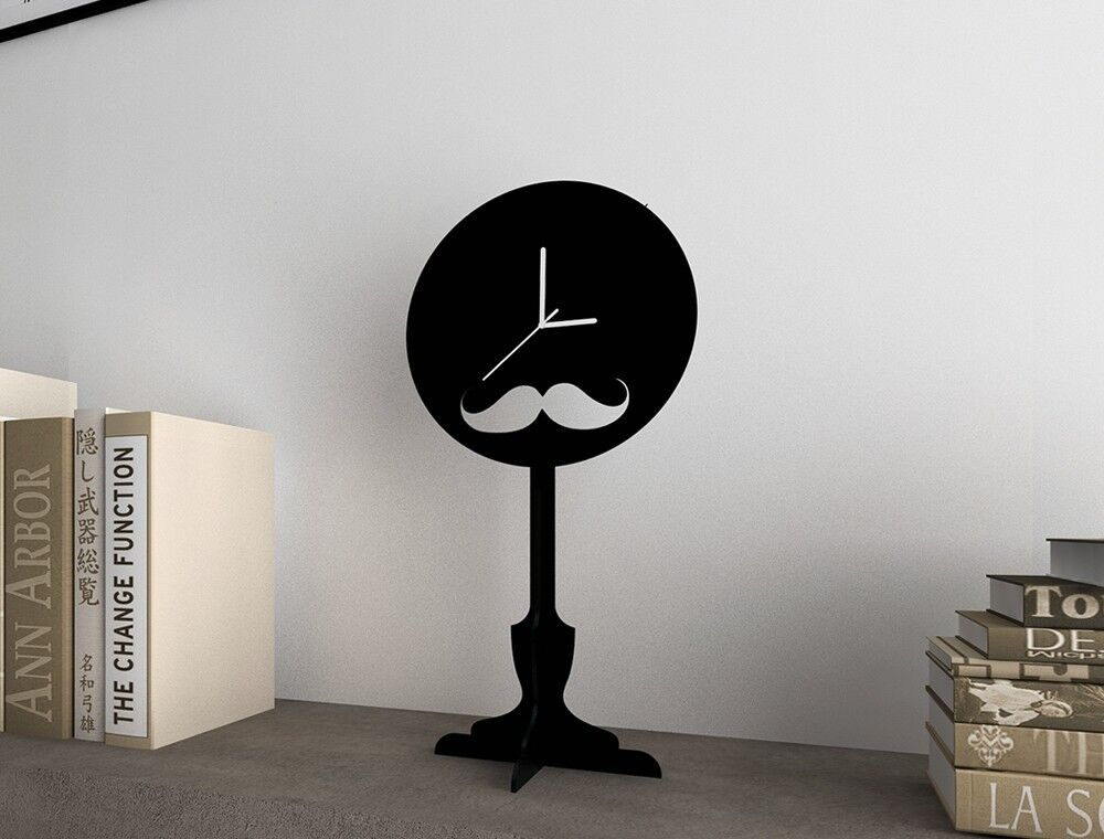 Moustache - Silhouette Table Clock
