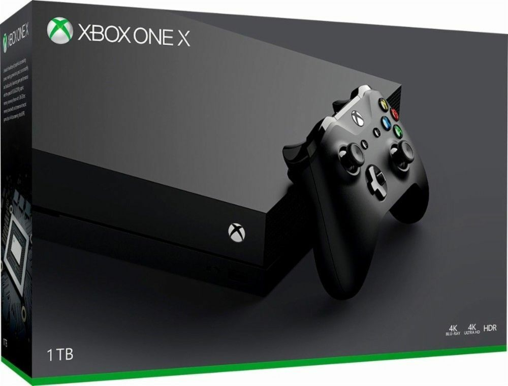 Купить Microsoft Xbox One X - Microsoft Xbox One X 1TB Black Console - 4K Ultra HD - Brand New Sealed!