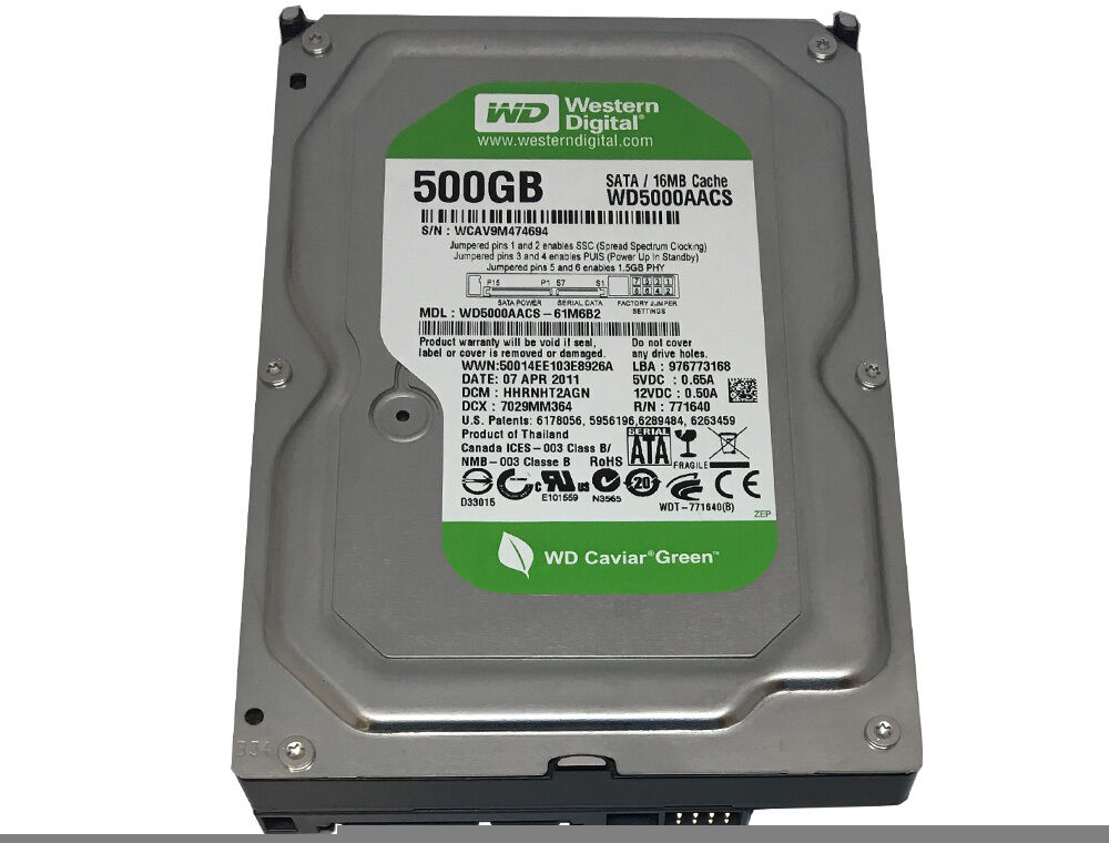 Купить Western Digital (WD5000AACS) 500GB 16MB Cache SATA 3Gb/s 3.5