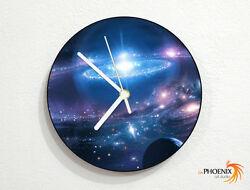Galaxy - Nebula - Stars Space Universe - Galactic Systems - Planets - Wall Clock