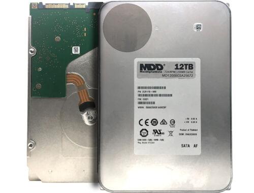 """MaxDigitalData 12TB 7200RPM 256MB Cache SATA 6.0Gb/s 3.5"""" Desktop Hard Drive"""