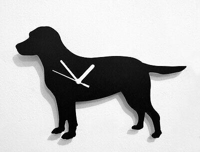 Labrador Retriever Dog Silhouette - Wall Clock