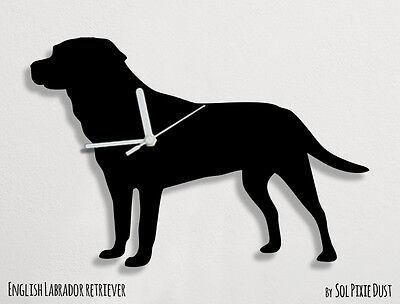English Labrador Retriever Dog Silhouette - Wall Clock