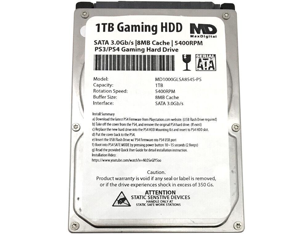 MDD 1TB 5400RPM 9.5mm 2.5 SATA 3.0Gb/s Gaming PS3/PS4 Internal Hard Drive