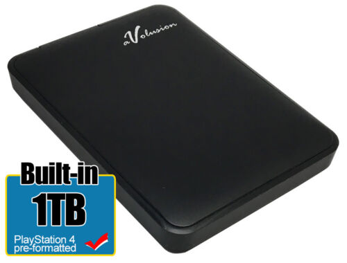 Avolusion 1TB USB 3.0 (PS4 Pre-Formatted) External PS4 Hard Drive (Slim & Pro)